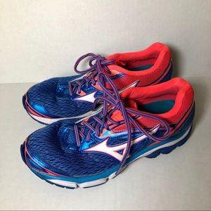 Mizuno Blue Orange Running Tennis Shoes Athletic